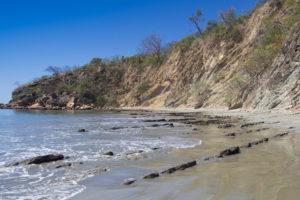 Protected oyster harvesting beds, Playa El Ostional, Nicaragua. ©Hal Brindley